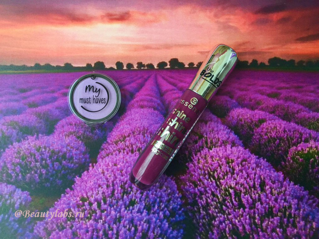 Блеск для губ Essence Shine Shine Shine и тени для век Essence My Must Haves