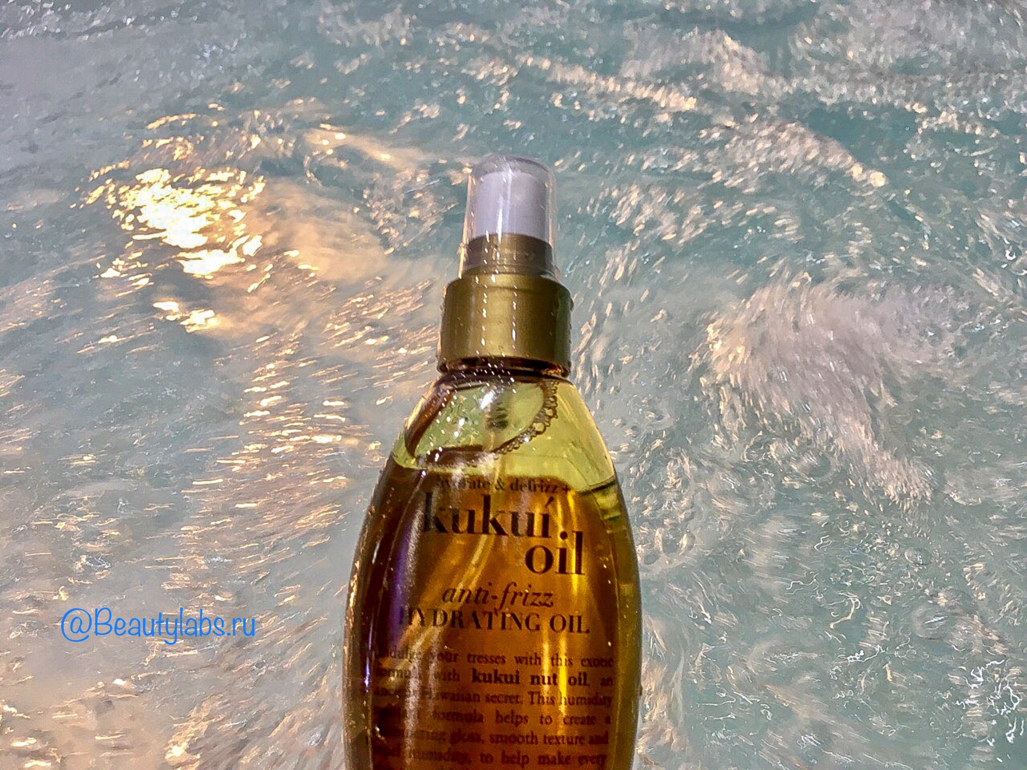 Масло-спрей OGX Hydrate&Defrizz + Kukui Oil Anti-Frizz Hydrating